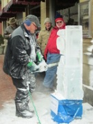 Oakland Winter Fest ice sculpting